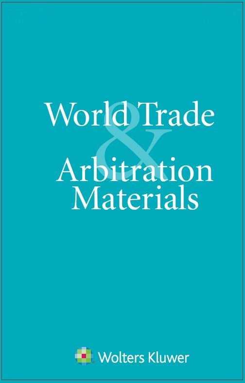 World Trade & Arbitration Materials Combo by KLI/TURPIN