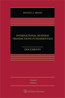 International Business Transactions Fundamentals, Documents, Second Edition by BRAND