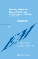 Shaping EU Public Procurement Law: A Critical Analysis of the CJEU Case Law 2015–2017 by GRAELLS